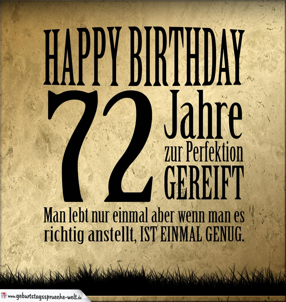72. Geburtstag Retro Geburtstagskarte