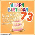 73. Geburtstag Geburtstagssprüche Happy Birthday Geburtstagskind
