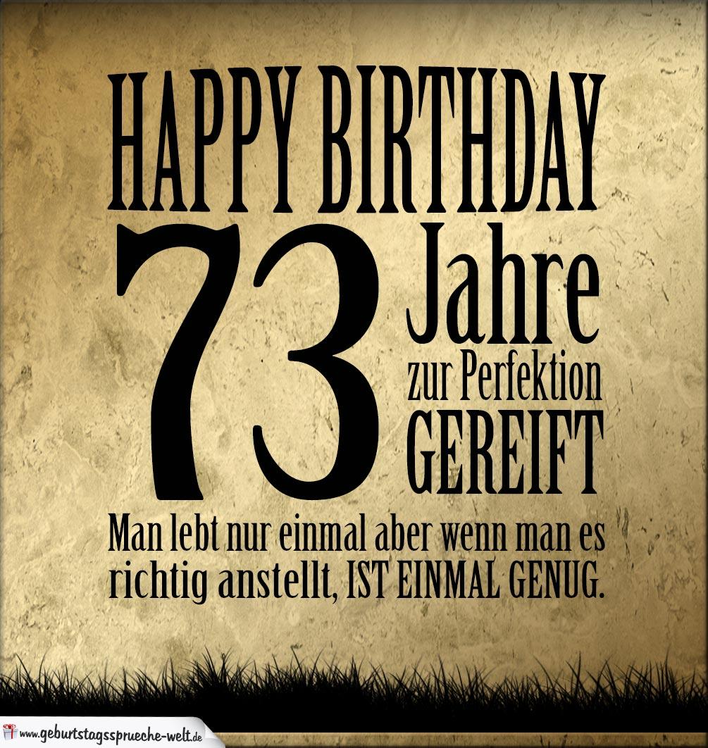 73. Geburtstag Retro Geburtstagskarte