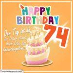 74. Geburtstag Geburtstagssprüche Happy Birthday Geburtstagskind