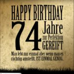 74. Geburtstag Retro Geburtstagskarte
