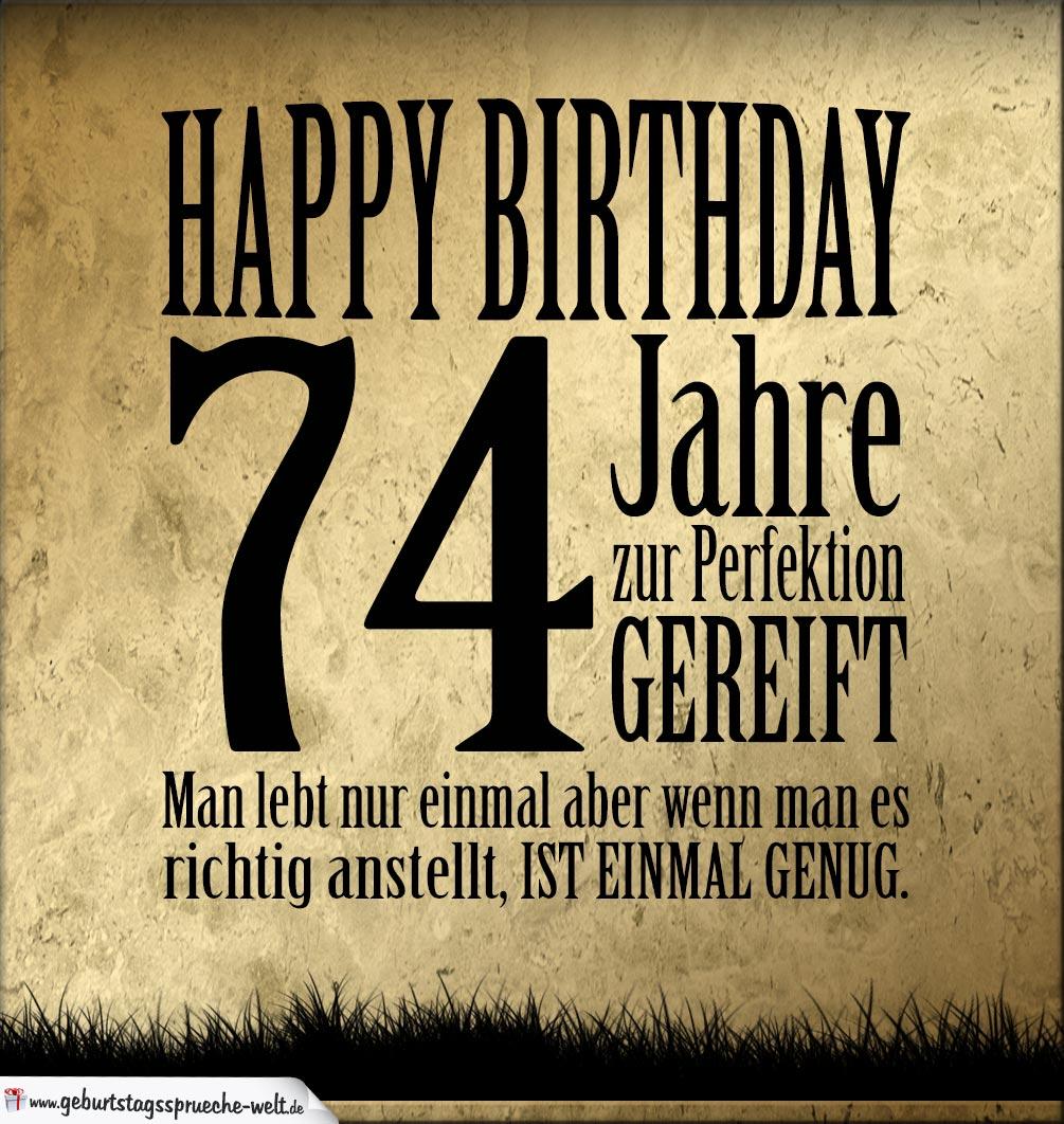 74. Geburtstag