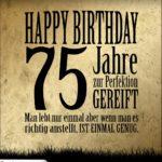 75. Geburtstag Retro Geburtstagskarte