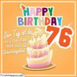 76. Geburtstag Geburtstagssprüche Happy Birthday Geburtstagskind
