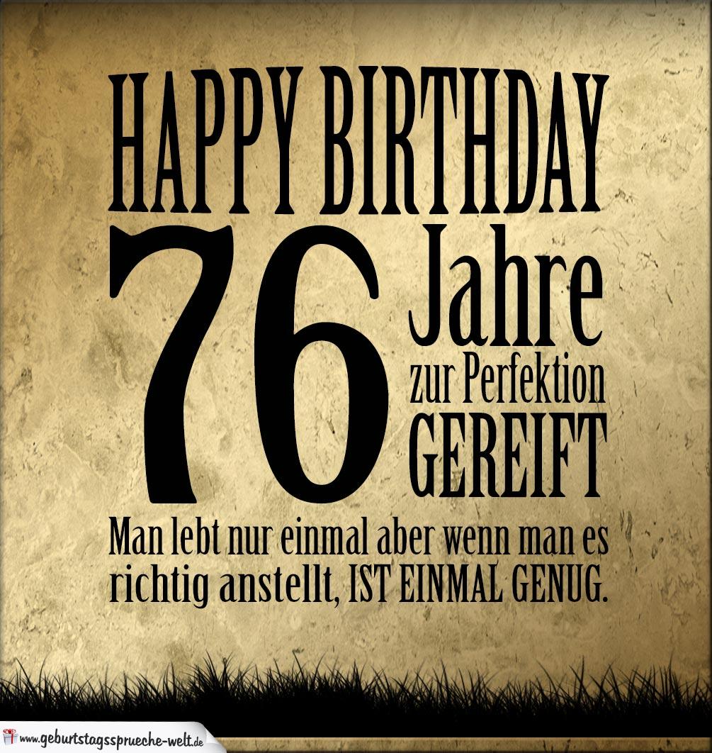 76. Geburtstag Retro Geburtstagskarte