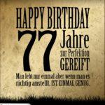 77. Geburtstag Retro Geburtstagskarte