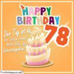 78. Geburtstag Geburtstagssprüche Happy Birthday Geburtstagskind