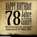 78. Geburtstag Retro Geburtstagskarte