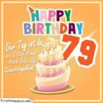 79. Geburtstag Geburtstagssprüche Happy Birthday Geburtstagskind