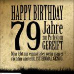 79. Geburtstag Retro Geburtstagskarte