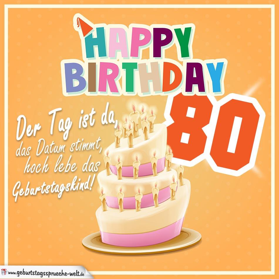 80. geburtstag geburtstagssprüche happy birthday geburtstagskind