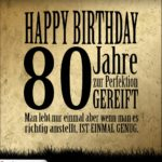 80. Geburtstag Retro Geburtstagskarte