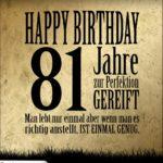81. Geburtstag Retro Geburtstagskarte