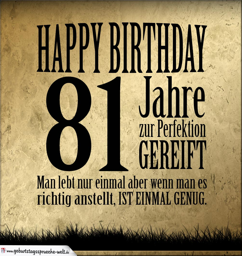 81. Geburtstag Bilder