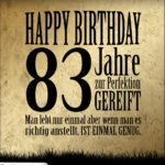 83. Geburtstag Retro Geburtstagskarte