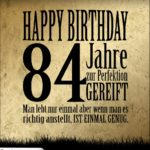 84. Geburtstag Retro Geburtstagskarte