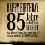 85. Geburtstag Retro Geburtstagskarte