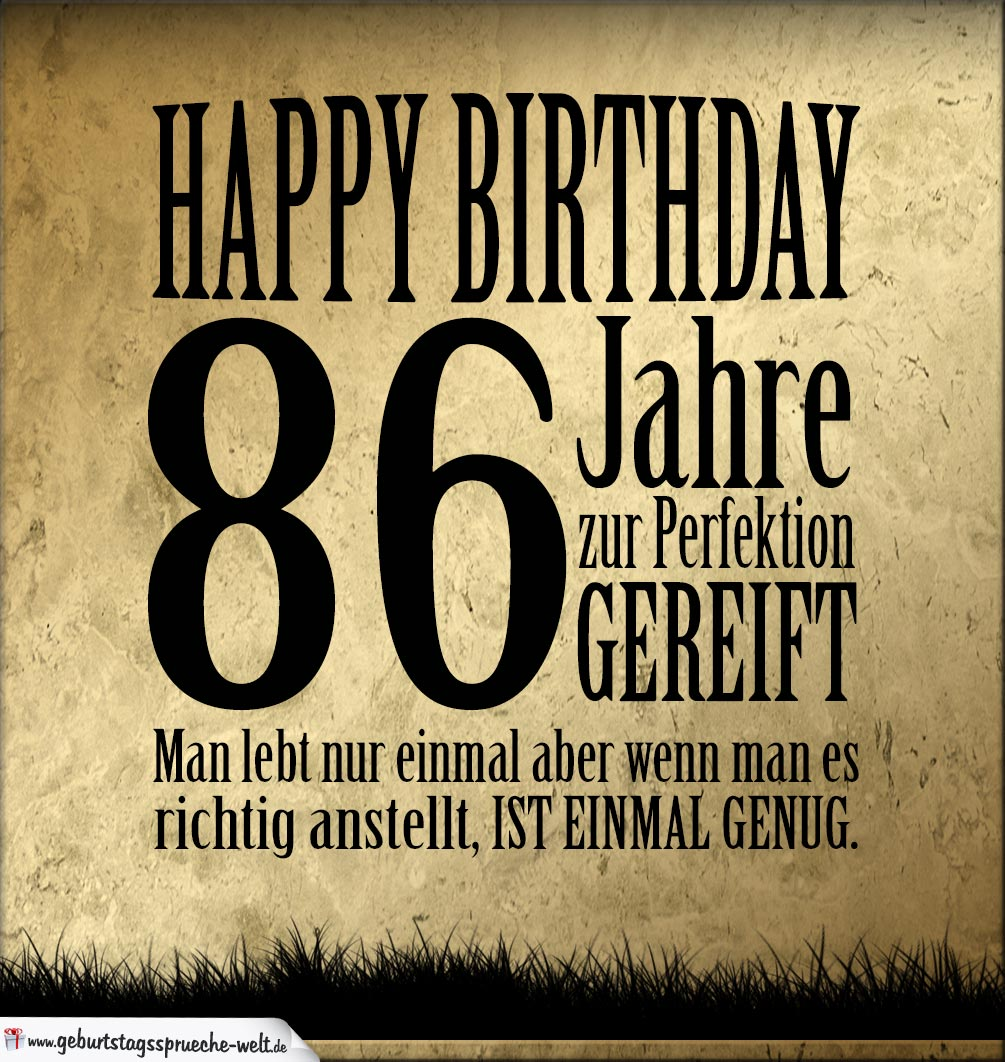 86. Geburtstag Retro Geburtstagskarte
