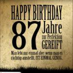 87. Geburtstag Retro Geburtstagskarte