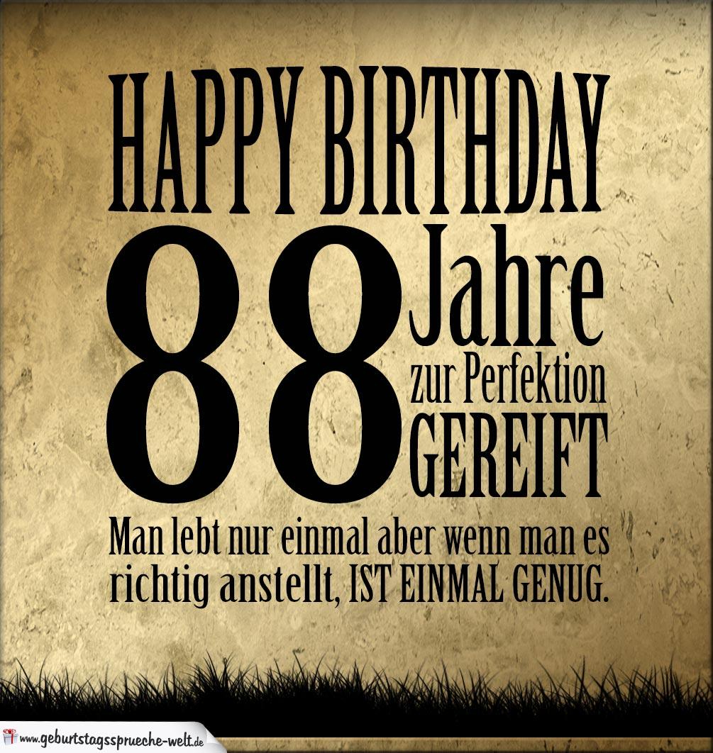 88. Geburtstag Retro Geburtstagskarte