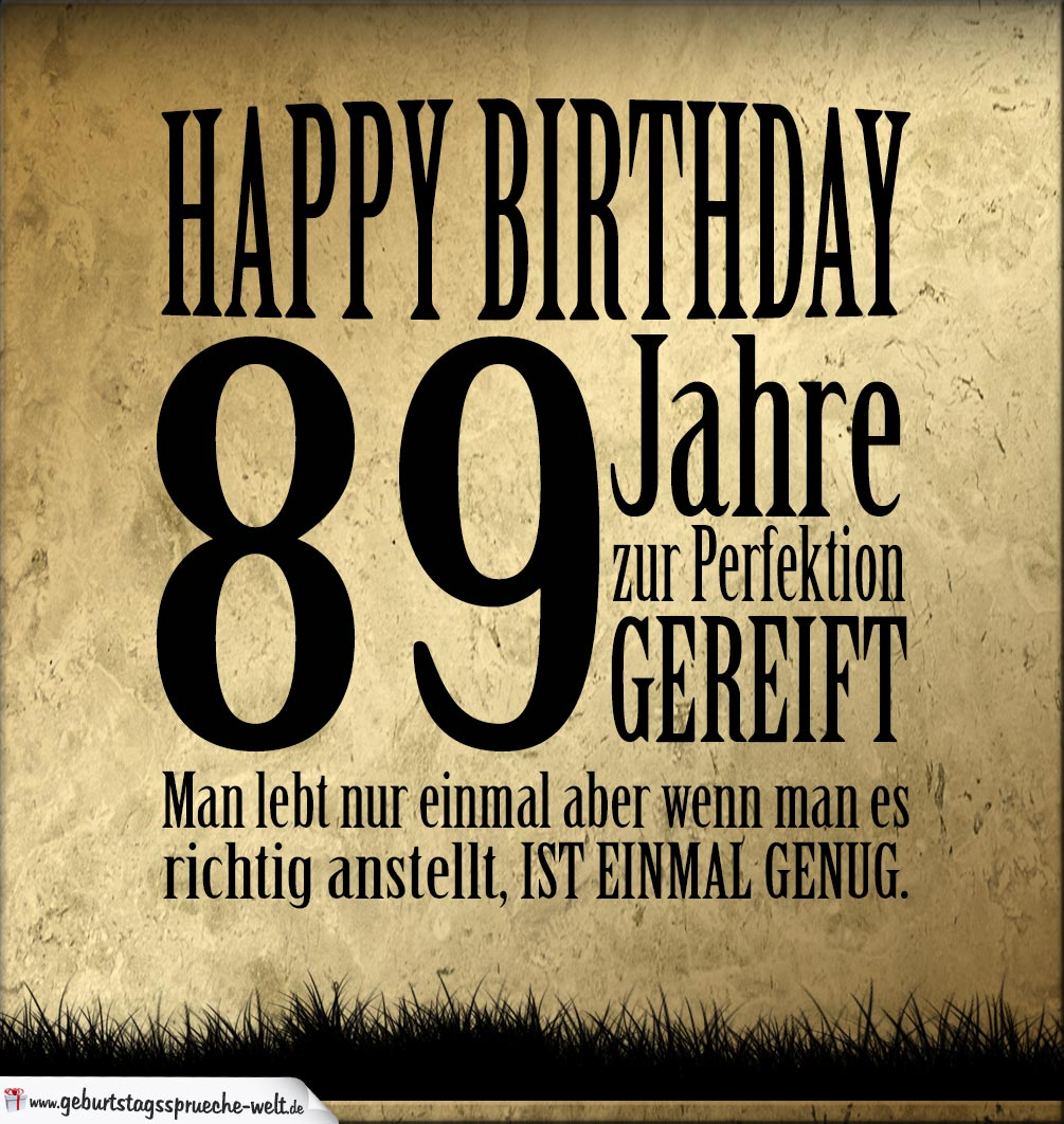 89. Geburtstag Retro Geburtstagskarte
