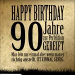 90. Geburtstag Retro Geburtstagskarte