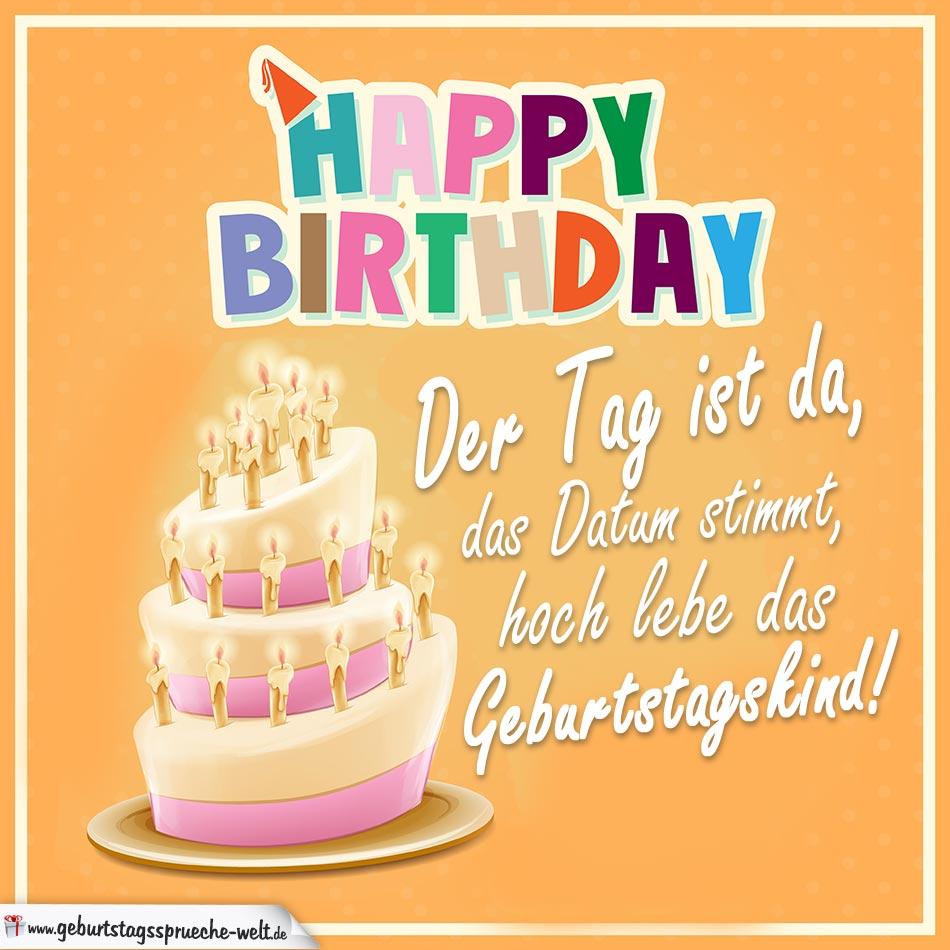 Happy Birthday - Hoch lebe das Geburtstagskind