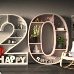 Kostenlose Geburtstagskarte Happy Birthday mit Spruch zum 20. Geburtstag