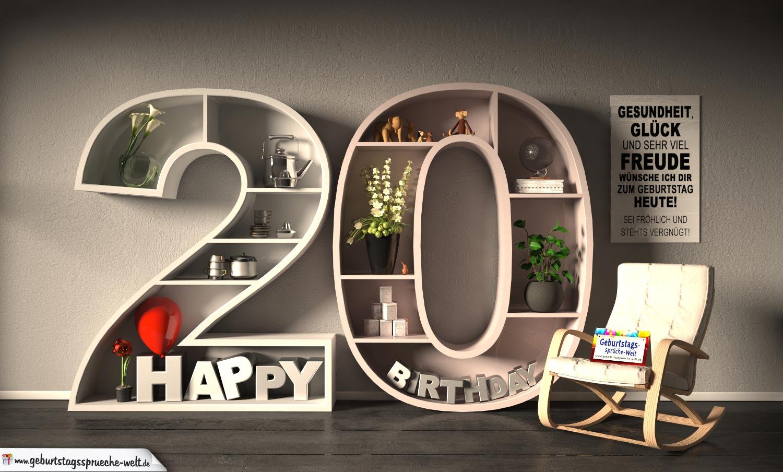 kostenlose geburtstagskarte happy birthday mit spruch zum. Black Bedroom Furniture Sets. Home Design Ideas
