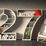 Kostenlose Geburtstagskarte Happy Birthday mit Spruch zum 27. Geburtstag