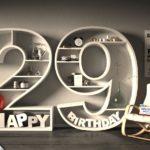 Kostenlose Geburtstagskarte Happy Birthday mit Spruch zum 29. Geburtstag