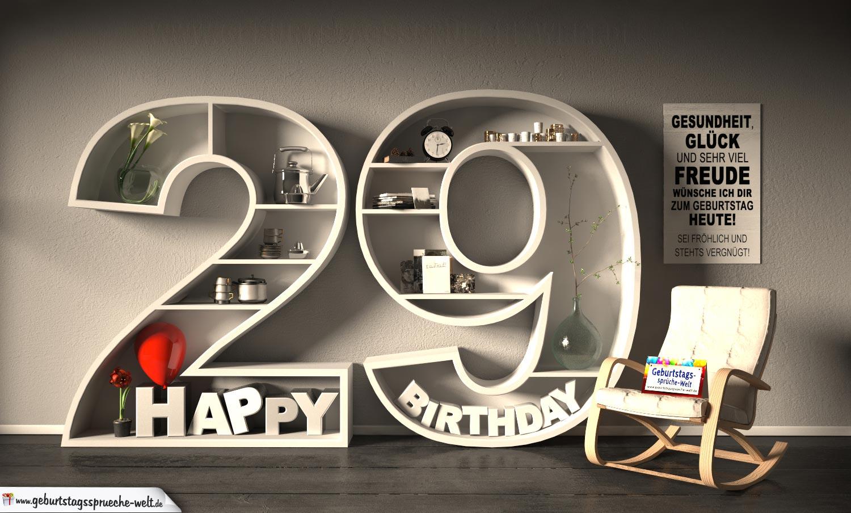 Spruch 29 Geburtstag