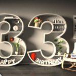 Kostenlose Geburtstagskarte Happy Birthday mit Spruch zum 33. Geburtstag
