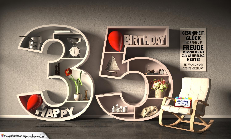 Spruch 35 Geburtstag