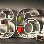 Kostenlose Geburtstagskarte Happy Birthday mit Spruch zum 36. Geburtstag