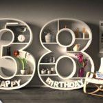 Kostenlose Geburtstagskarte Happy Birthday mit Spruch zum 38. Geburtstag