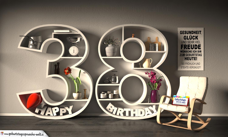 38 Geburtstag