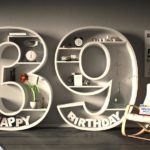Kostenlose Geburtstagskarte Happy Birthday mit Spruch zum 39. Geburtstag