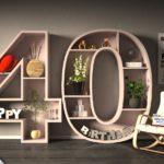 Kostenlose Geburtstagskarte Happy Birthday mit Spruch zum 40. Geburtstag