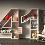 Kostenlose Geburtstagskarte Happy Birthday mit Spruch zum 41. Geburtstag