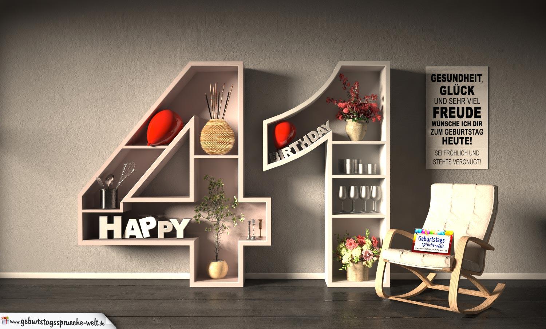 Geburtstagssprüche 41