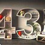 Kostenlose Geburtstagskarte Happy Birthday mit Spruch zum 43. Geburtstag