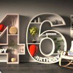 Kostenlose Geburtstagskarte Happy Birthday mit Spruch zum 46. Geburtstag