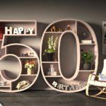 Kostenlose Geburtstagskarte Happy Birthday mit Spruch zum 50. Geburtstag