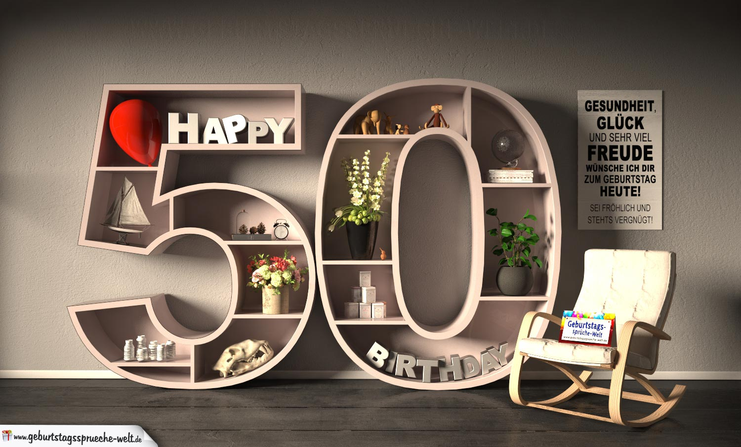 kostenlose geburtstagskarte happy birthday mit spruch zum 50 geburtstag geburtstagsspr che welt. Black Bedroom Furniture Sets. Home Design Ideas