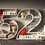 Kostenlose Geburtstagskarte Happy Birthday mit Spruch zum 52. Geburtstag
