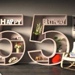 Kostenlose Geburtstagskarte Happy Birthday mit Spruch zum 55. Geburtstag