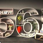 Kostenlose Geburtstagskarte Happy Birthday mit Spruch zum 56. Geburtstag