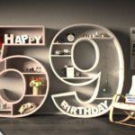 Kostenlose Geburtstagskarte Happy Birthday mit Spruch zum 59. Geburtstag