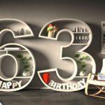 Kostenlose Geburtstagskarte Happy Birthday mit Spruch zum 63. Geburtstag